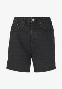 TOM TAILOR DENIM - Denim shorts - dark stone black black denim - 6