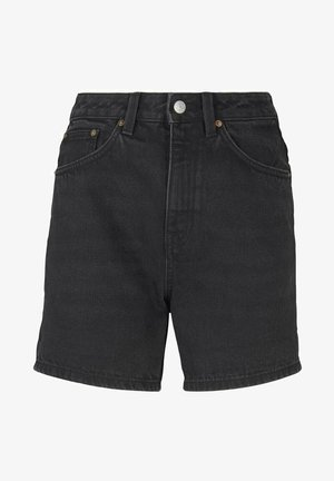 Denim shorts - dark stone black black denim