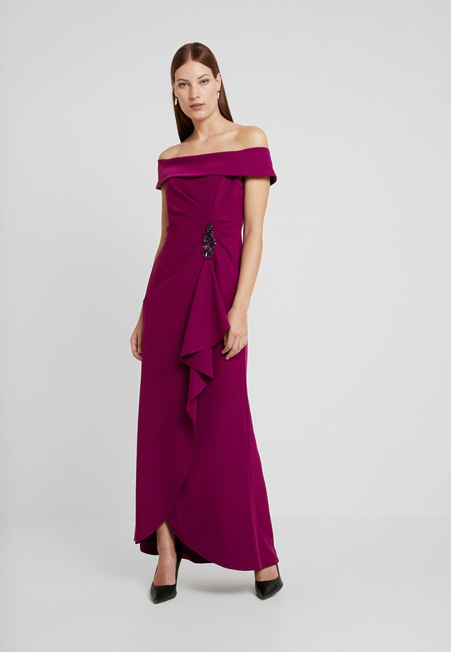 OFF SHOULDER DRAPED GOWN - Robe de cocktail - wildberry