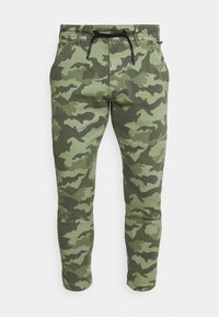 JOHNSON CAMO - Tracksuit bottoms - forest green
