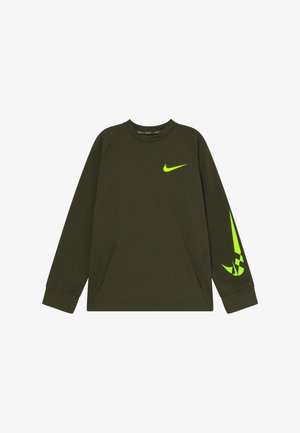 COMFORT - Fleece jumper - khaki/volt