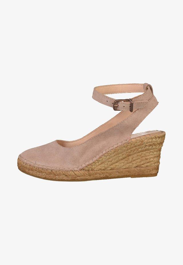 Sandalen met sleehak - rose