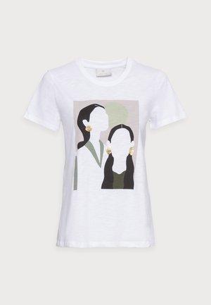 BRITT - T-shirt con stampa - optical white