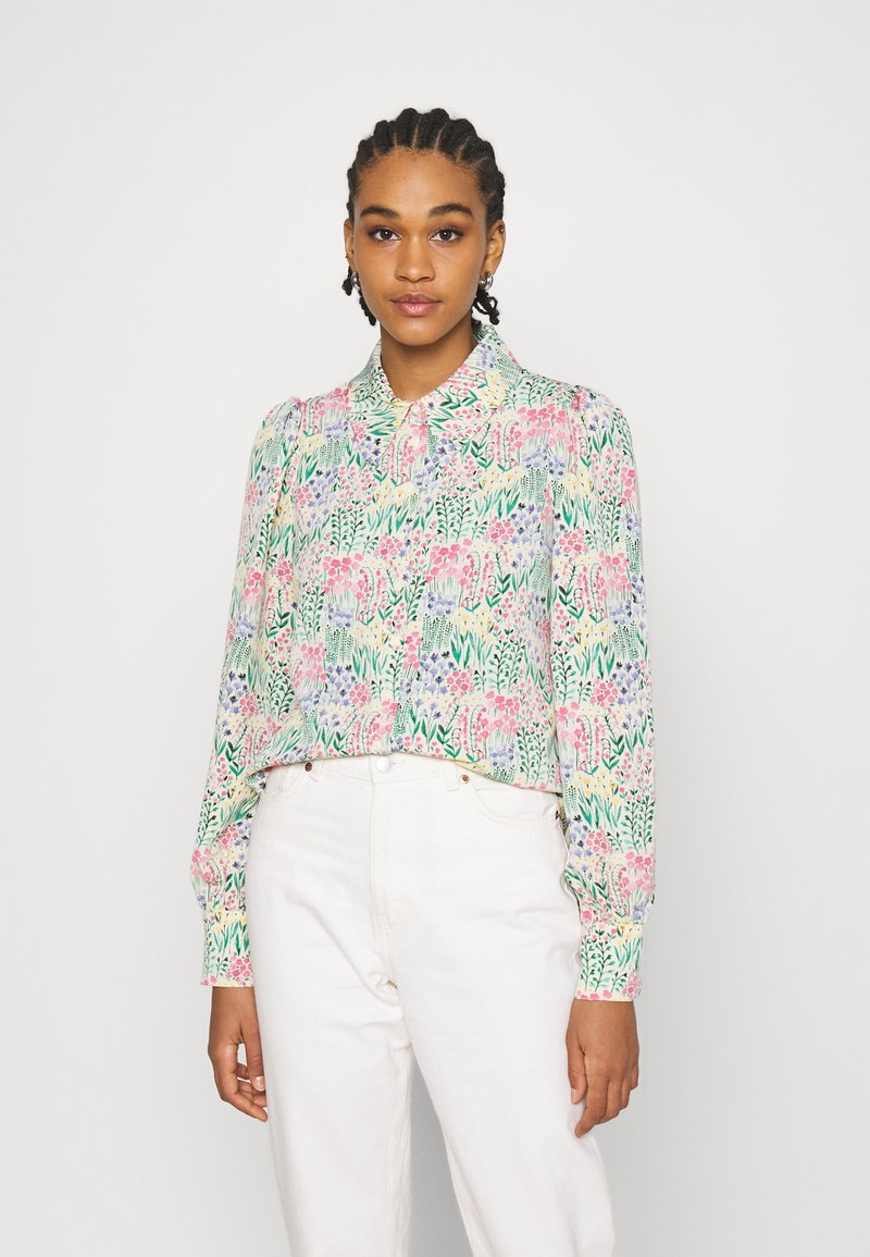 Monki - NALA BLOUSE - Košile - light green