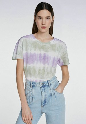 BATIK-LOOK - Print T-shirt - lilac green