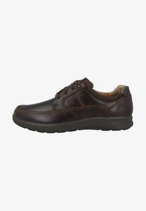 Casual lace-ups - mahogany oily leather