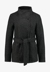 Vero Moda - VMBRUSHED MYRA JACKET  - Fleece jacket - dark grey melange - 4