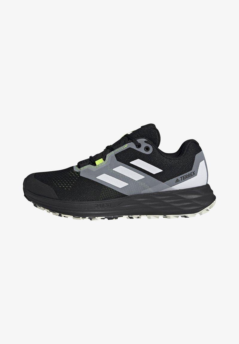 adidas Performance - TERREX TWO FLOW - Stabilty running shoes - savannah/core black/hi-res yellow