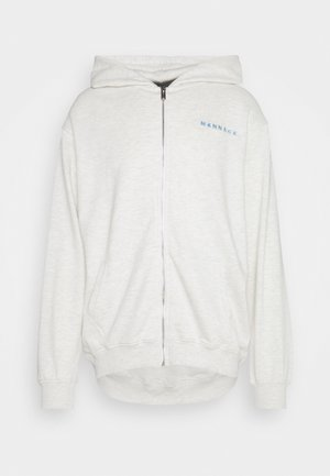 MENNACE ESSENTIAL HOODIE UNISEX - Mikina na zip - light grey