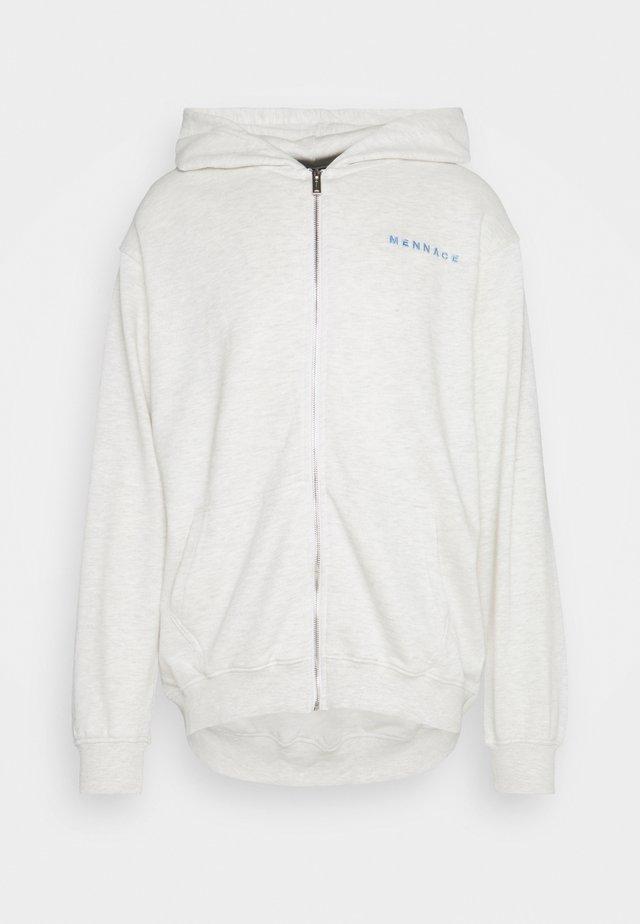 MENNACE ESSENTIAL HOODIE UNISEX - veste en sweat zippée - light grey