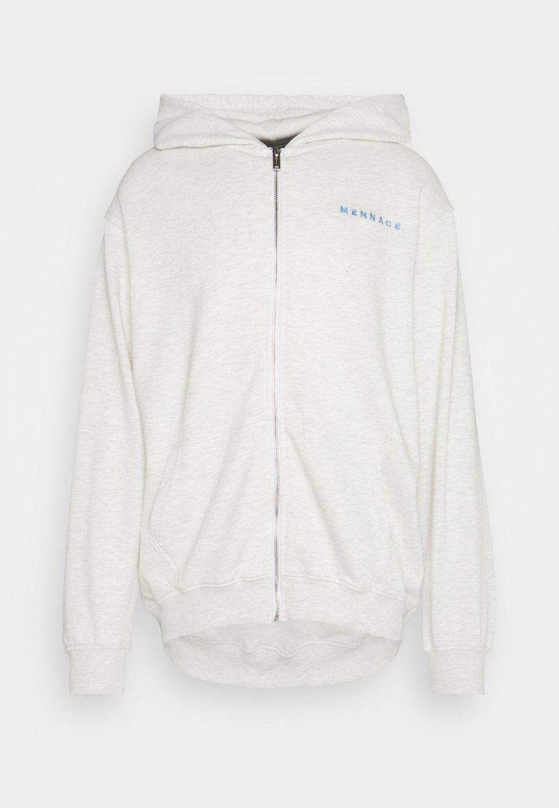 Mennace - MENNACE ESSENTIAL HOODIE UNISEX - Zip-up hoodie - light grey