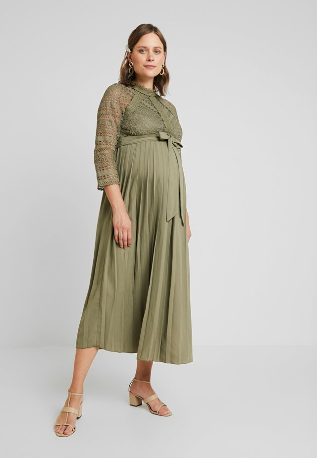 LAURIE CROCHET DRESS - Robe longue - khaki