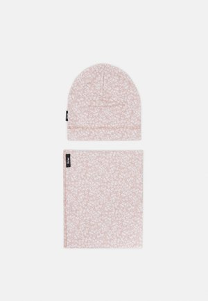 BEANIE SET UNISEX - Sjaal - strawberry cream