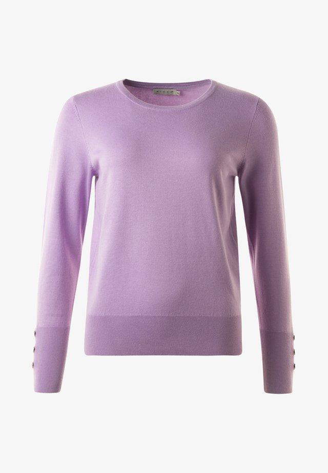 Stickad tröja - Light lilac