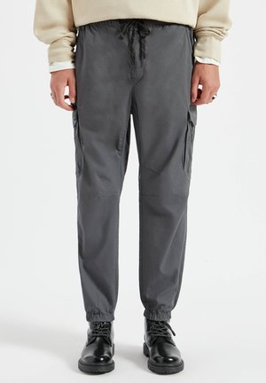 Cargo trousers - mottled dark grey