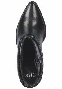 SPM Shoes & Boots - Enkellaarsjes met hoge hak - black leather - 1