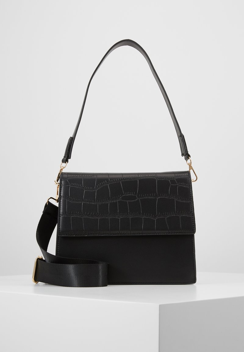 Pieces - CHRIS CROSS BODY - Handbag - black/gold