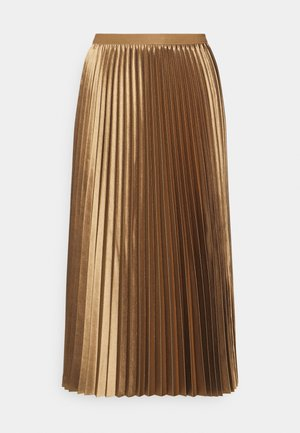 RURY - Pleated skirt - maple