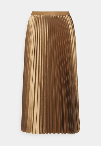 RURY - Pliceret nederdel /Nederdele med folder - maple