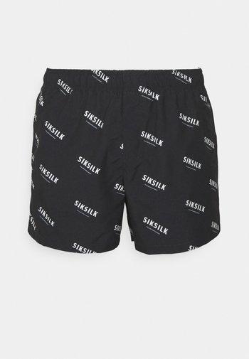 REPEAT PRINT SWIM - Shorts - black/ecru