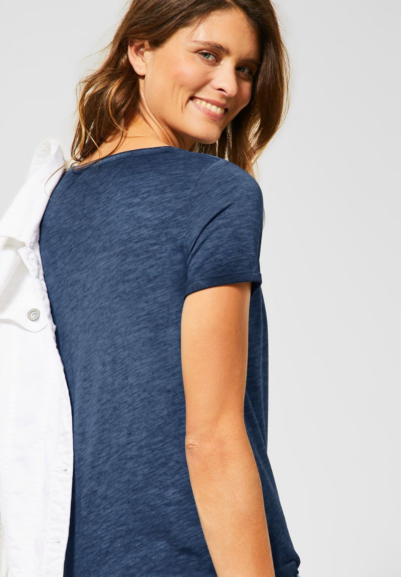 Cecil - Basic T-shirt - blau