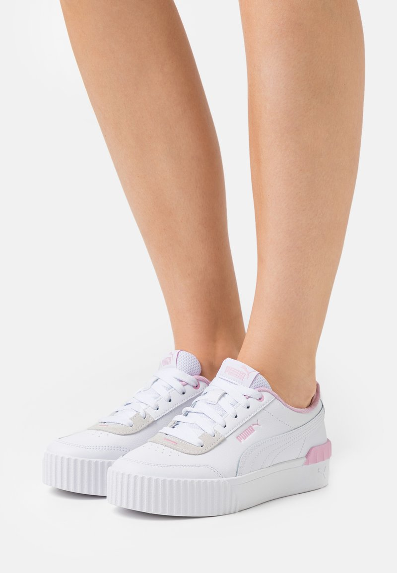 Puma - CARINA LIFT - Sneakers laag - white/pink lady