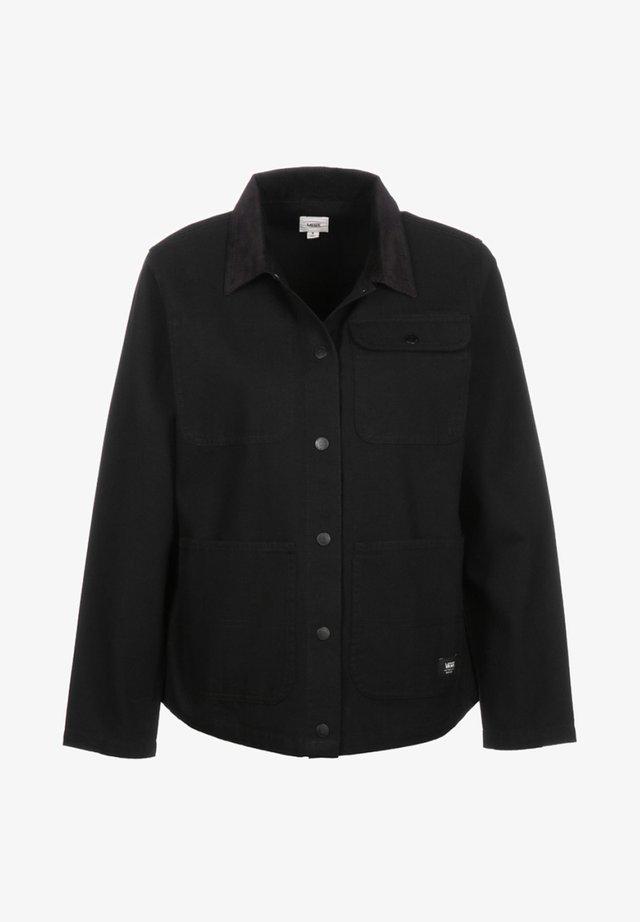 WM DRILL CHORE JACKET WMN - Summer jacket - black