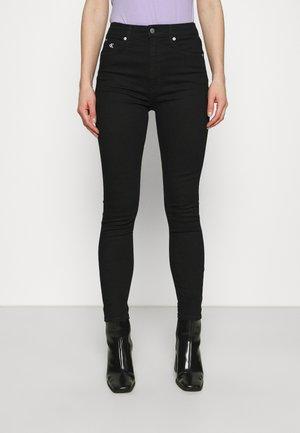 HIGH RISE ANKLE - Skinny džíny - denim black