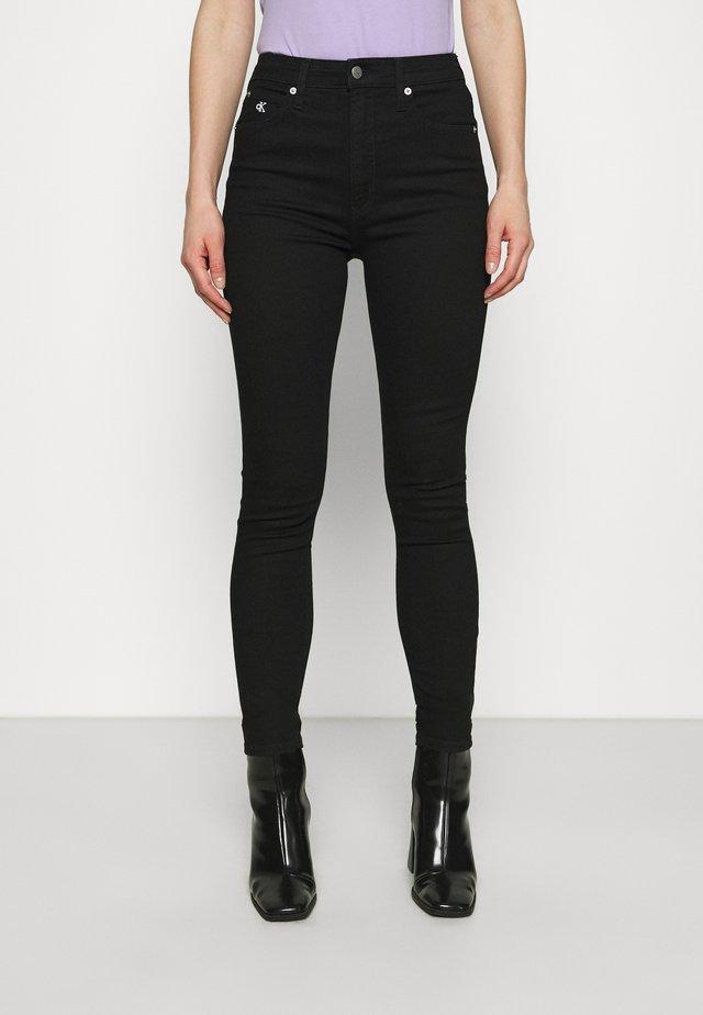 HIGH RISE ANKLE - Jeans Skinny Fit - denim black