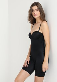 Spanx - SUIT YOUR FANCY STRAPLESS CUPPED MID-TIGH BODYSUIT - Body - very black - 1