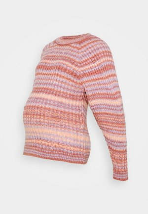 MLEVY BRUSHED - Jumper - peach nectar/multicolor