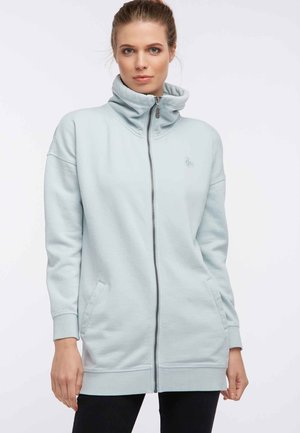 Zip-up hoodie - smoke mint