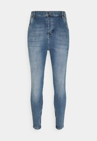 SIKSILK - SIKSILK DROP CROTCH  - Vaqueros pitillo - stone blue denim - 3