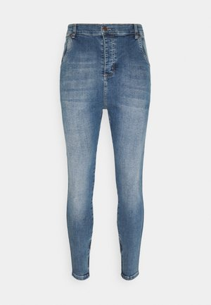 SIKSILK DROP CROTCH  - Jeans Skinny Fit - stone blue denim