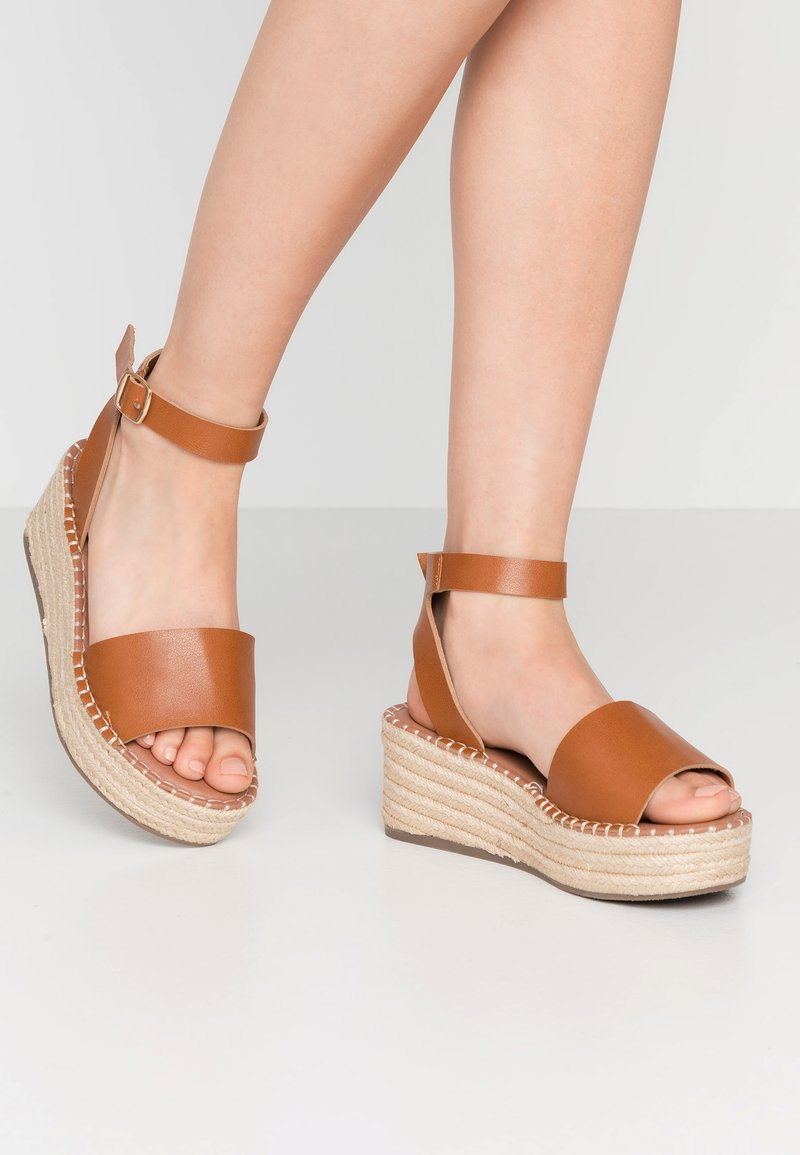 New Look Wide Fit - WIDE FIT POPPINS - Espadrilky - tan
