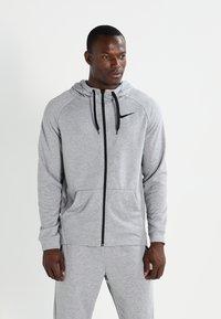 Nike Performance - Huvtröja med dragkedja - dark grey heather/black - 0