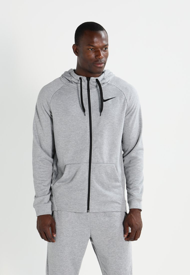 Nike Performance - Huvtröja med dragkedja - dark grey heather/black