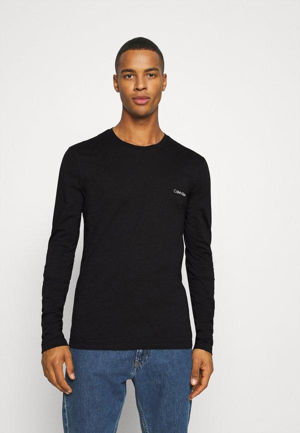 Calvin Klein LONG SLEEVE LOGO 2 PACK - Bluzka z długim rękawem - black/czarny Odzież Męska JANA