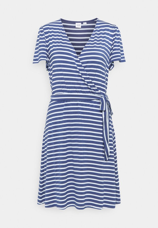 WRAP DRESS - Jersey dress - blue combo