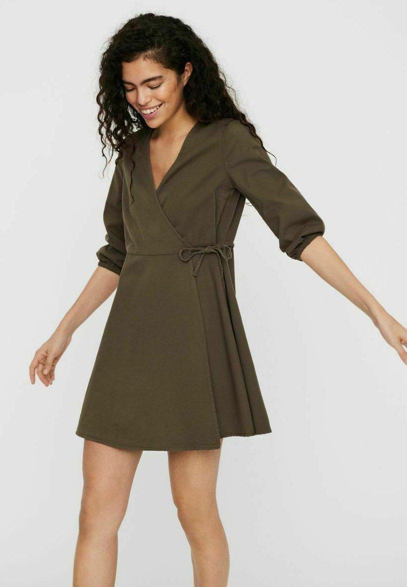 Damen WRAP - Jeanskleid