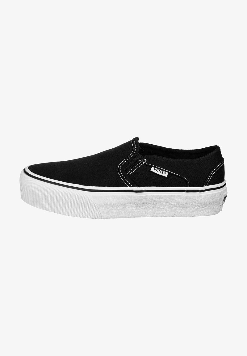 Vans - ASHER - Trainers - black / white