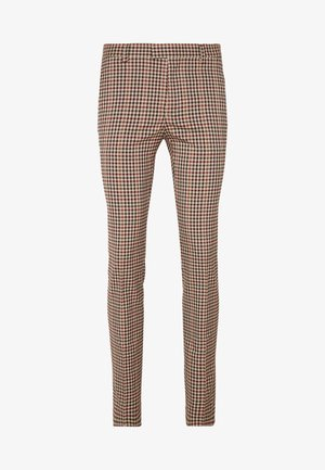 CAPE - Suit trousers - brown