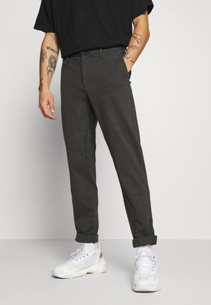 ONSMARK ZIP PANT - Broek - dark grey melange