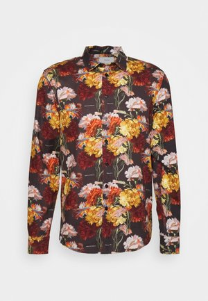 FLOWERS SHIRT - Košile - black