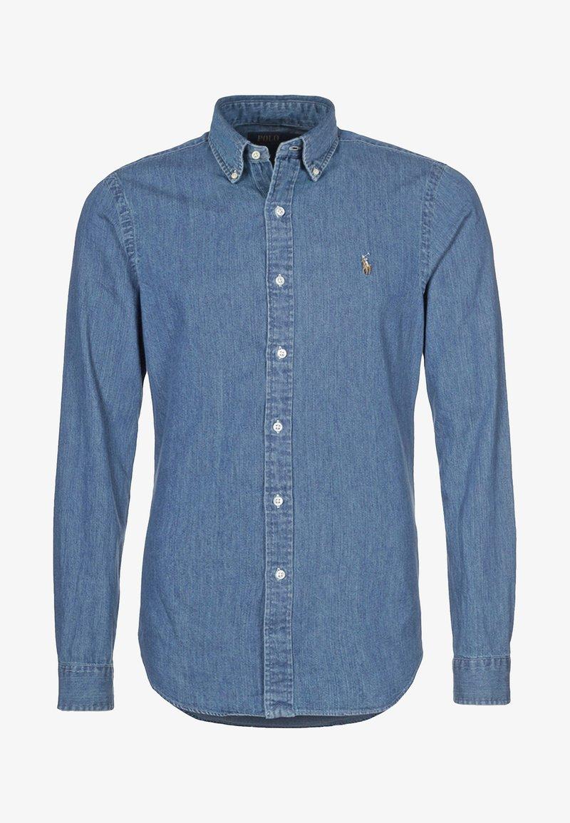 mörkblå ralph lauren skjorta