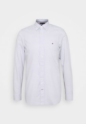 SLIM MICRO PRINT - Shirt - white