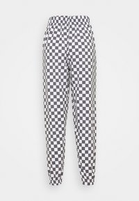 NEW girl ORDER - WHITE CHECKERBOAD TROUSER - Tracksuit bottoms - black/white - 1