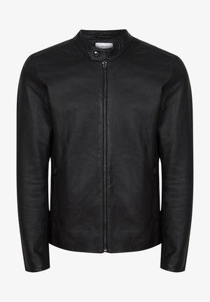 KEITH - Leather jacket - black