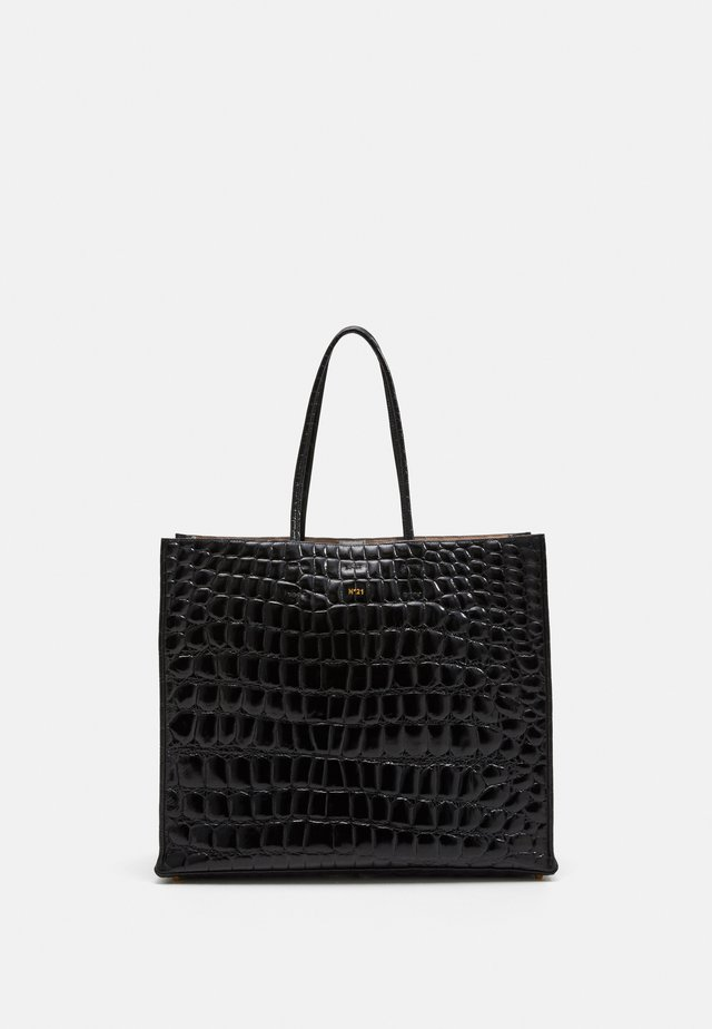 SHOPPING ORIZZONTALE - Shopping bag - black