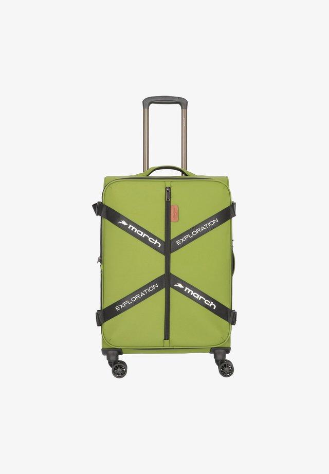 Wheeled suitcase - olive